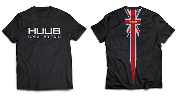 These Black t-shirts with a Union Jack print on the back are perfect for supporting the Olympics