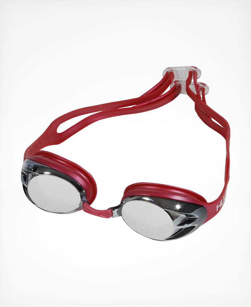 Varga Race Goggle - Red with Silver Mirror