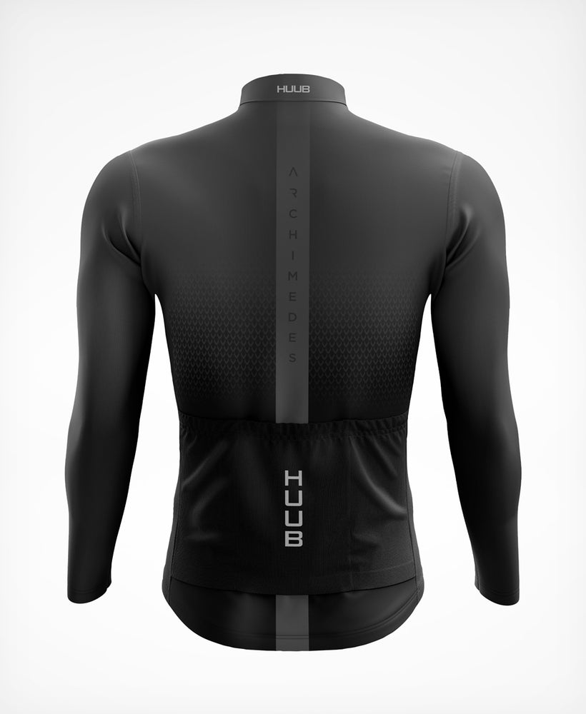 Archimedes Thermal Long Sleeve Cycle Jersey Charcoal - Mens