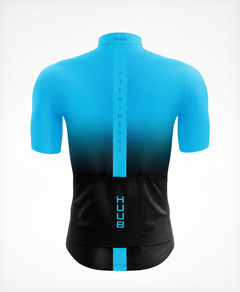Archimedes Short Sleeve Cycle Jersey Blue - Mens
