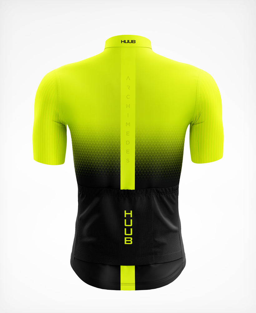Archimedes Short Sleeve Cycle Jersey Yellow - Mens