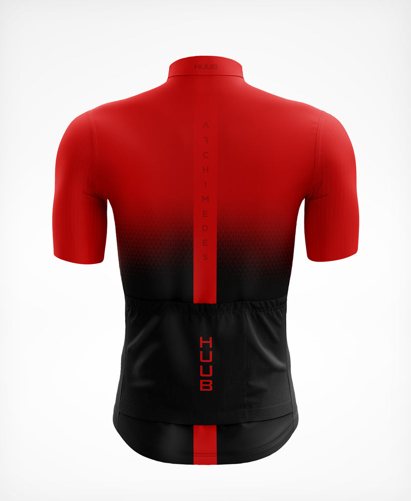 Archimedes Short Sleeve Cycle Jersey Red - Mens