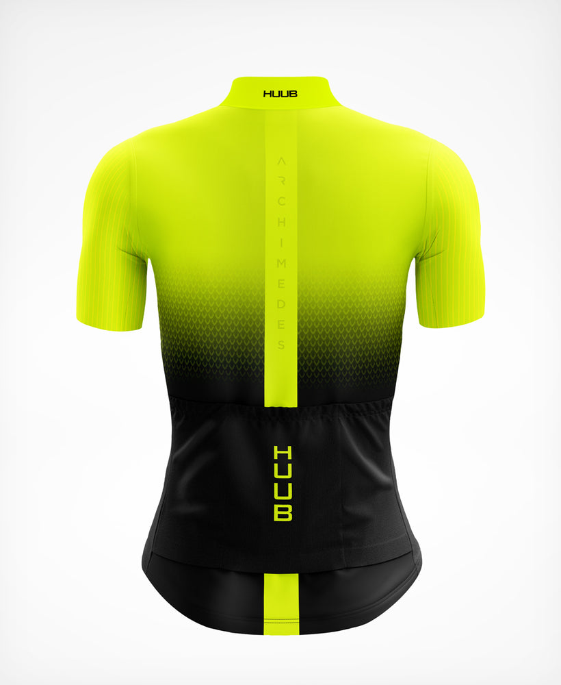 Archimedes Short Sleeve Cycle Jersey Yellow - Womens