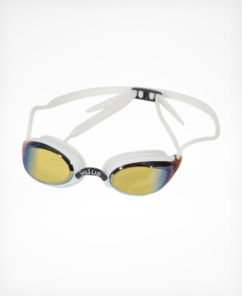 Brownlee Swim Goggle - White with Yellow Mirror Lens