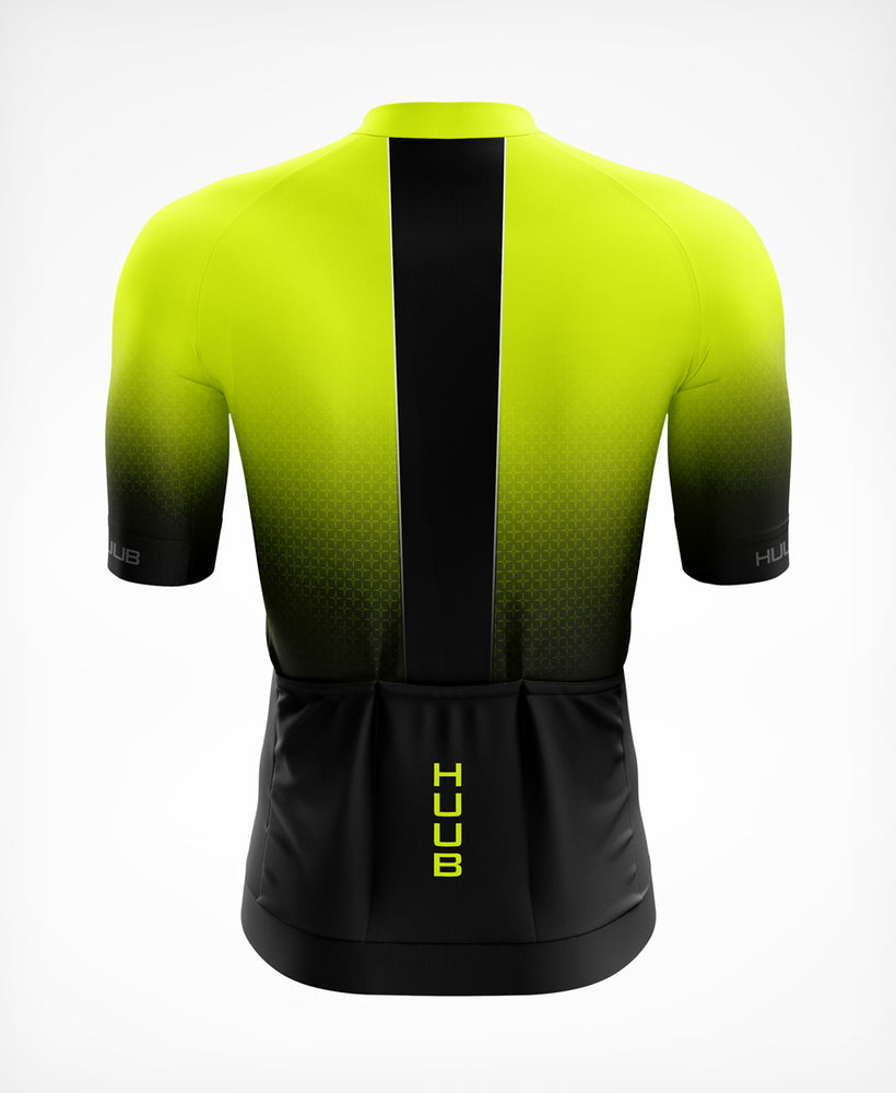 Core 3 Short Sleeve Jersey Black/Fluo Yellow - Mens