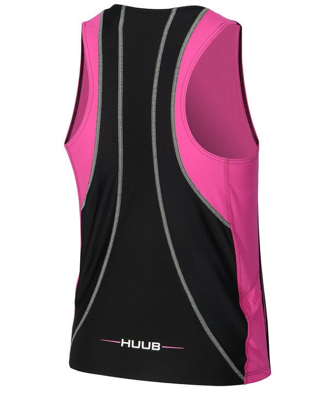 HUUB Core Tri Top - Womens Black/Pink