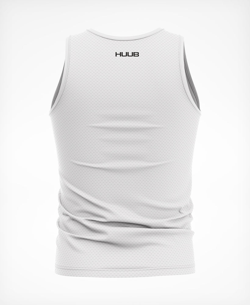 Essential Sleeveless Tech Baselayer - White
