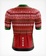 Festive Short Sleeve Xmas Cycle Jersey Red