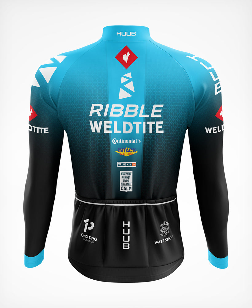 Team Ribble Weldtite Thermal Long Sleeve Jersey Blue - mens