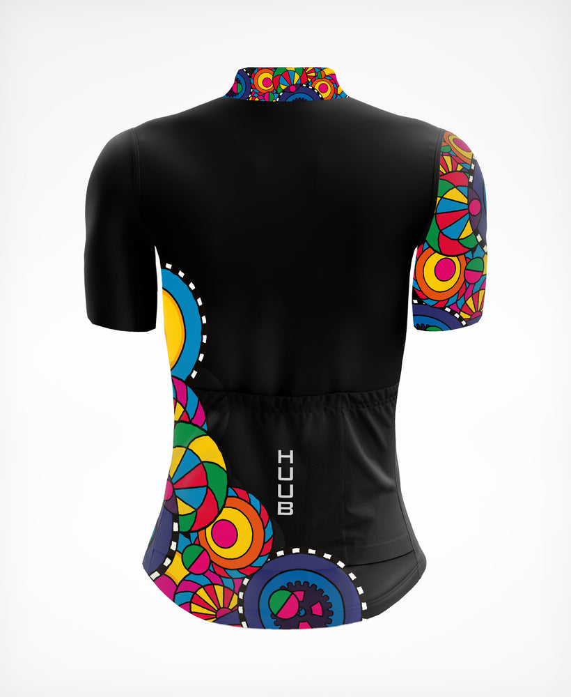 Kaleidoscope Short Sleeve Jersey Black - Womens