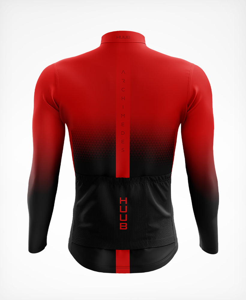 Archimedes Long Sleeve Thermal Cycle Jersey Red - Mens