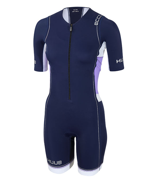 HUUB Core Long Course Triathlon Suit - Womens Blue/White/Purple