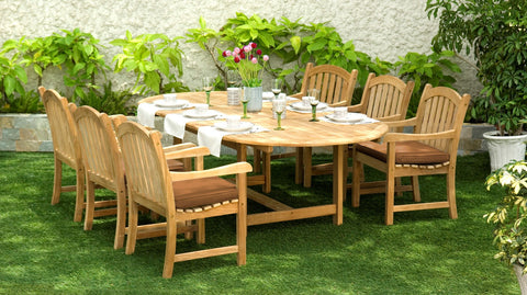 OXFORD 7pc Teak Dining Set / Ensemble repas 7pc OXFORD (teck)