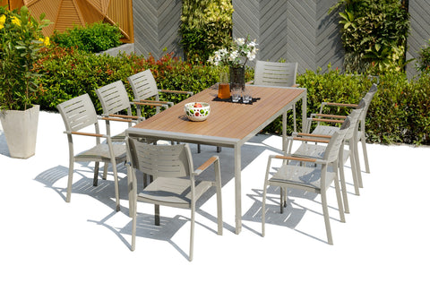 SCAN1051 - PORT NELSON - 9pc Dining Set / Ensemble Repas 9pc