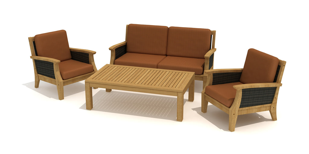 SYDNEY 4pc Teak Seating Set / Salon de jardin 4pc SYDNEY (teck)
