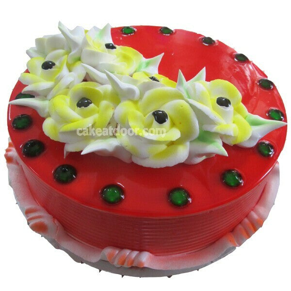 5 Flowers Strawberry cake - C035