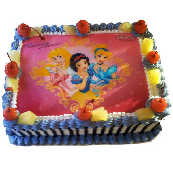 Barbie Doll Cartoon Photo Cake - C006