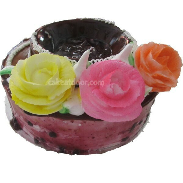 Blue Berry Cake 3 Flowers - C040