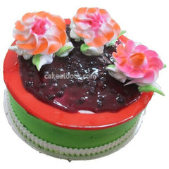Blue Berry Cake 3 Flowers - C041