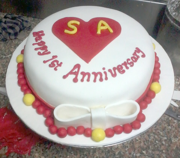 1st Anniversary Special cake - C128