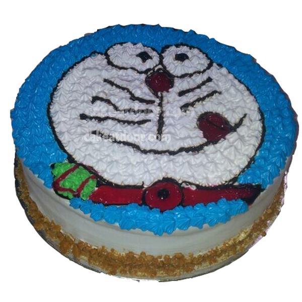 Cake Designs Cartoon : Doraemon Cartoon Face Design Cake II - C047 Cakeatdoor.com