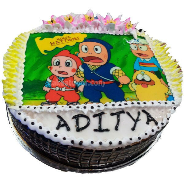 Ninja Hattori Cartoon Photo Cake - C014