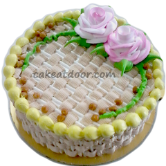 Butter Scotch flower special cake - C082