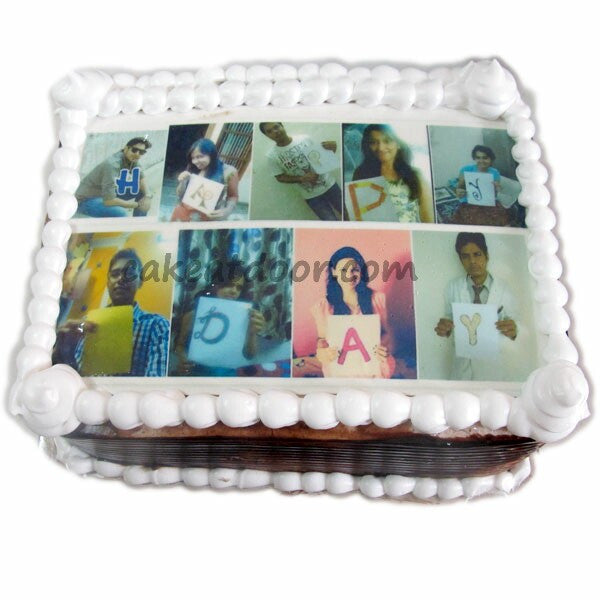 Friends Collarge Photo Cake - C086