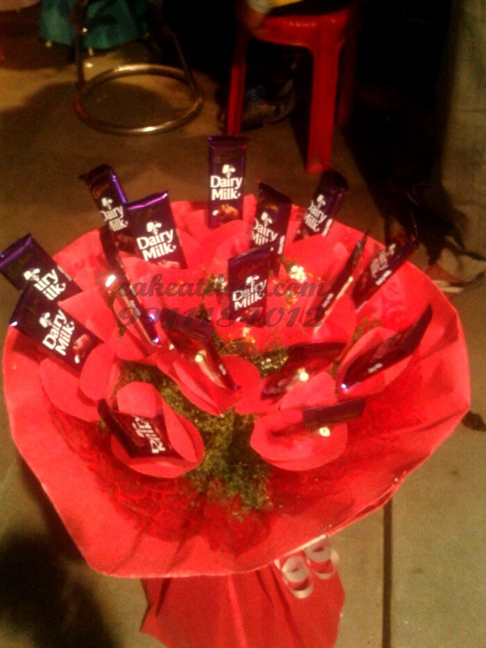 Designer Dairy Milk Chocolate Bouquet - F016