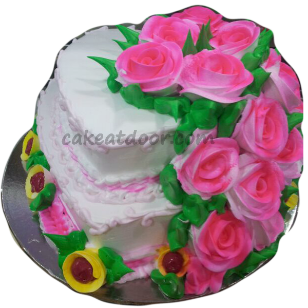 Heart Shape Wedding Cake Free Home Delivery In Ncr