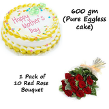Mothers Day special combo of Cake and Flowers - Combo 1