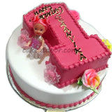 First Birthday Baby Girl Double Cake 5KG - C072