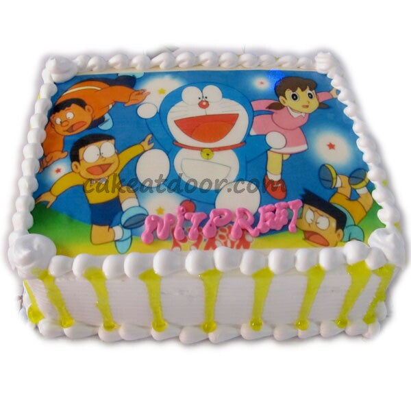 Doraemon Team Cartoon Photo Cake - C074
