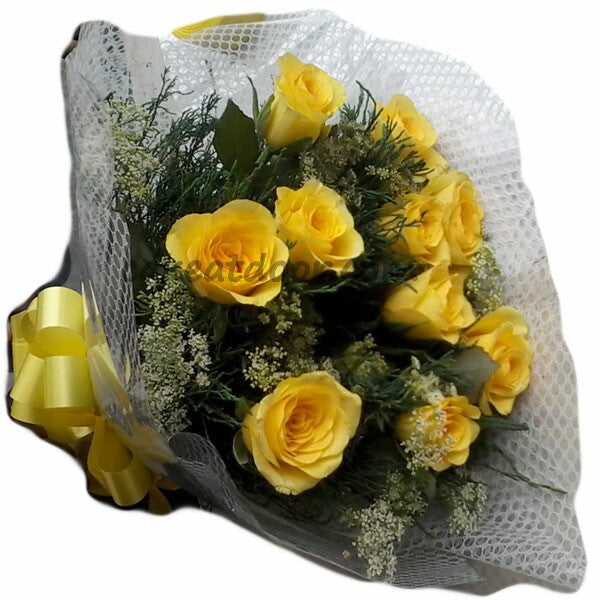 Simple Bouquet of 10 Rose - F008