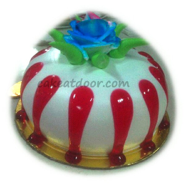 1 Flower Strawberry  Round Cake - C059