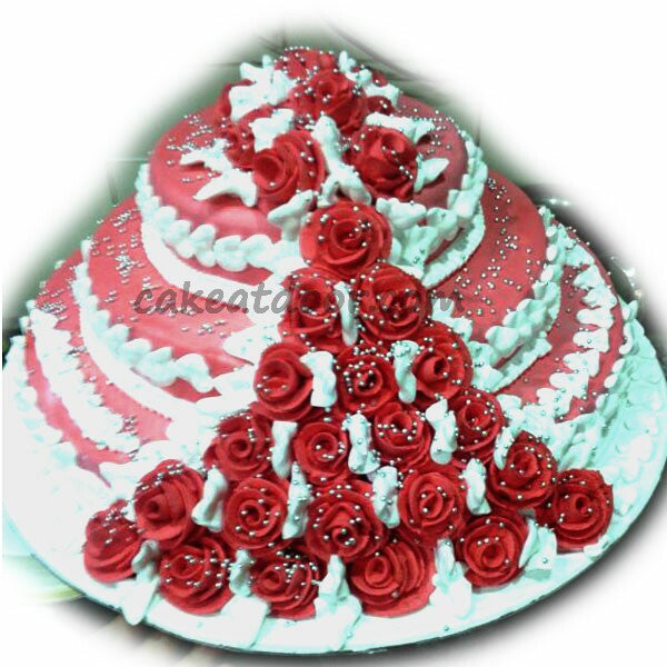 Three tire wedding cake - C099