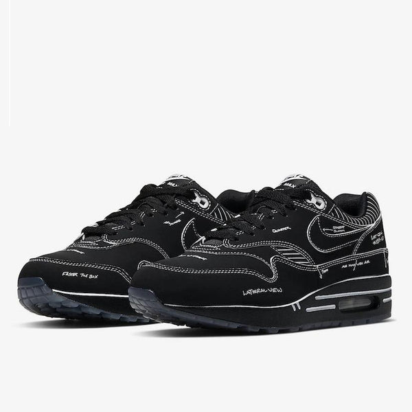 Nike Air Max 1 Tinker Black Schematic