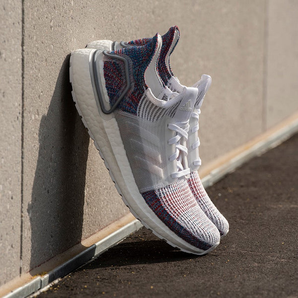 "Adidas Running Ultra Boost 19 ""FTWR WHITE / CRYSTAL WHITE / BLUE"" - Tmall Original"