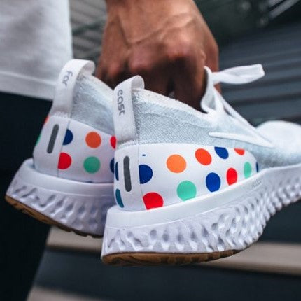 Nike Epic React Flyknit White Multicolor Dots