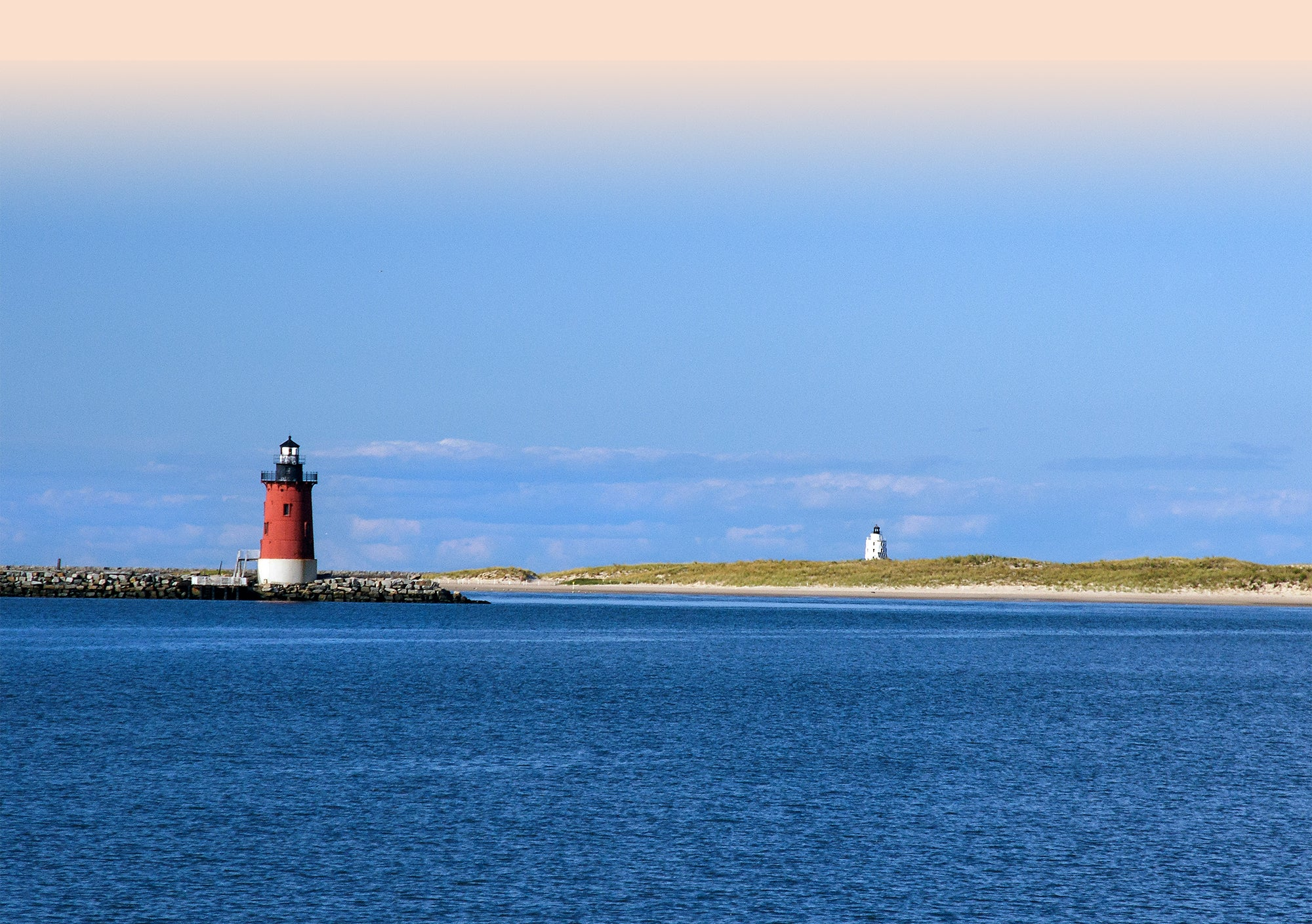 ocean view with light house
