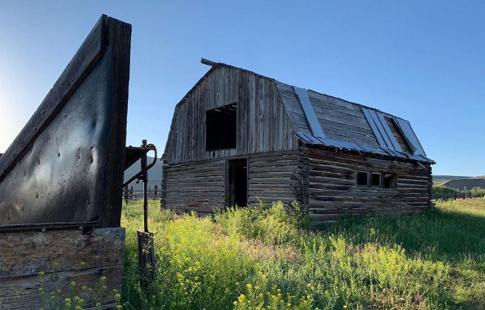 abandonded wooden barn
