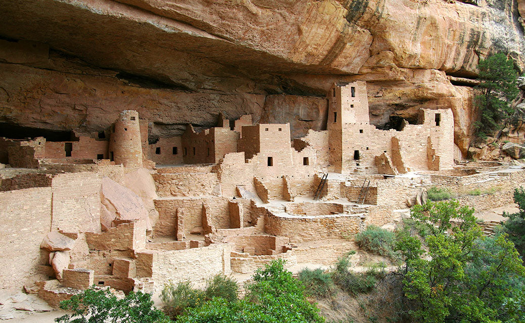 ancient town on side of mountain