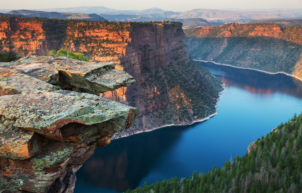 canyon cliff over river