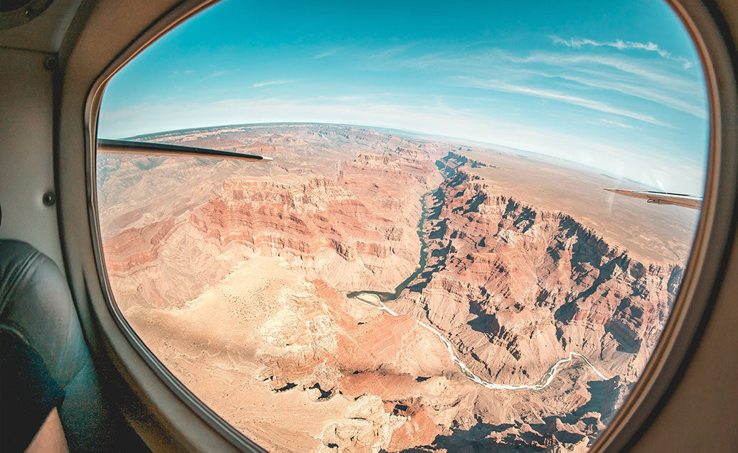 Grand Canyon View from airplane