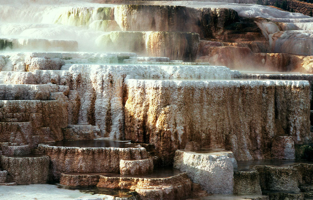 hot spring rock formations