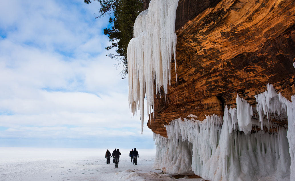 icicles hanging from cliff