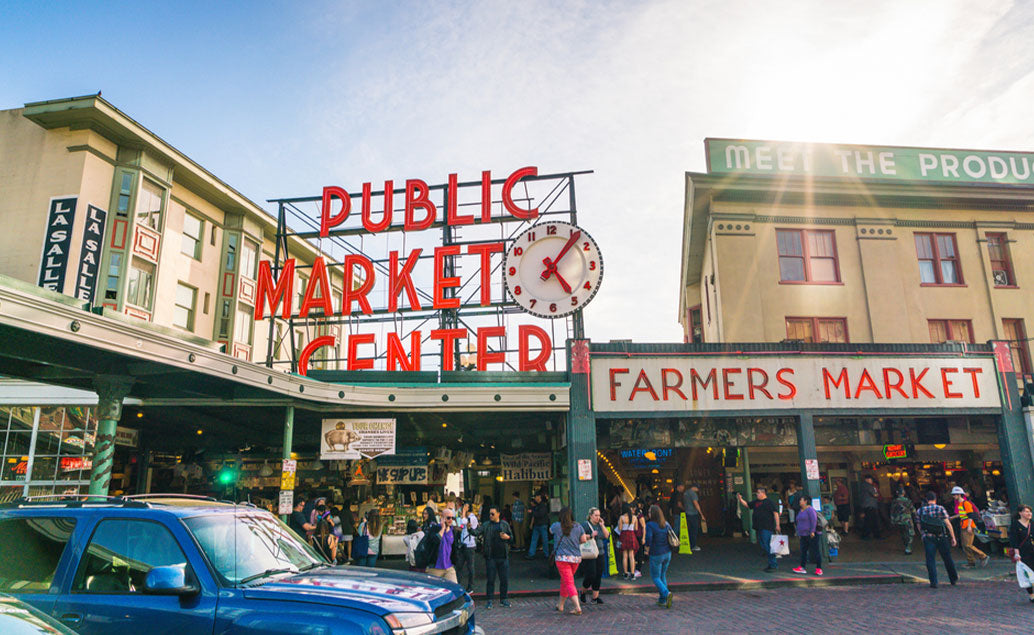 public market center and farmers market storefront