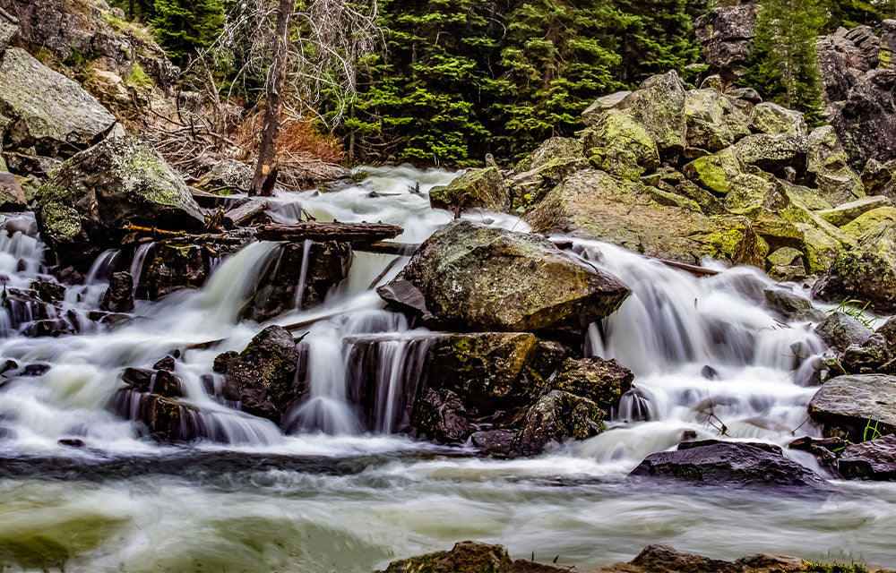 river stream over boulders