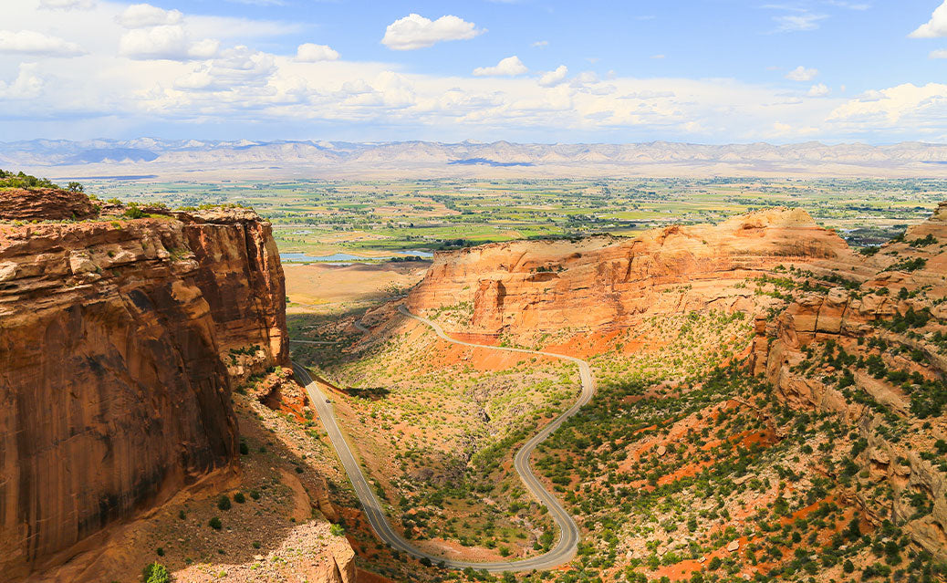 Scenic view from top of canyon