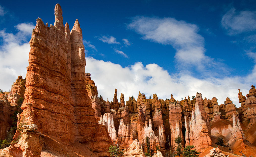 spire-shaped rock formations